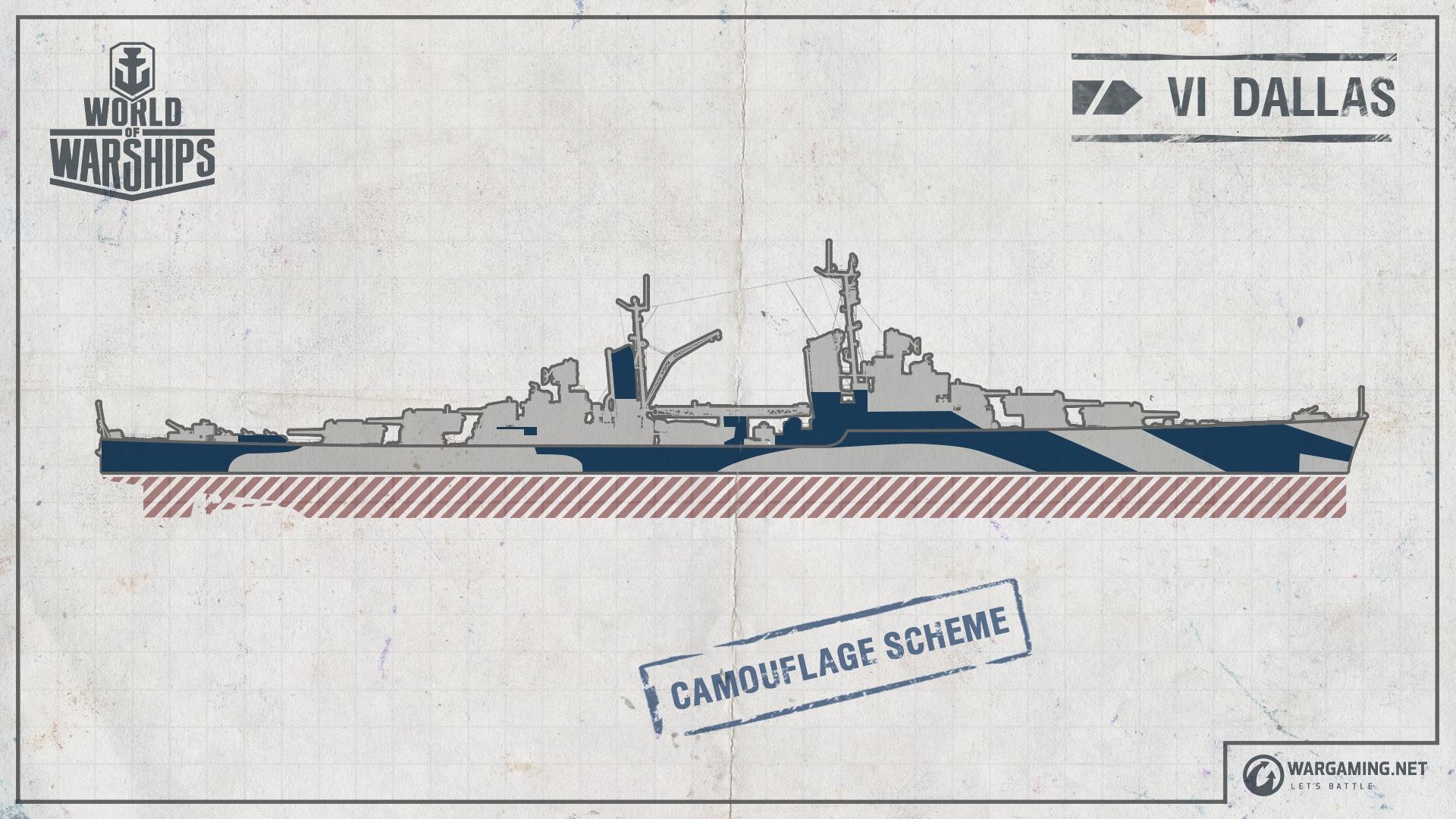 Projekt 389 – Der leichte Kreuzer Dallas   World of Warships