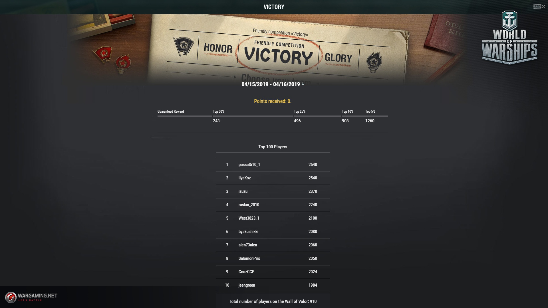"""The """"Victory"""" Event  Who's Got Lazo? 